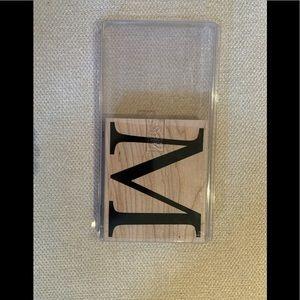 Stampin' Up Monogram M